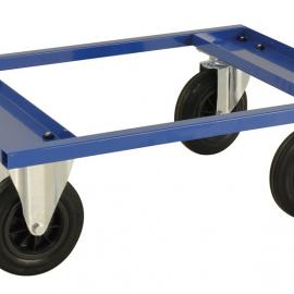 Pallvagn halvpall 800x600x270 mm Blå