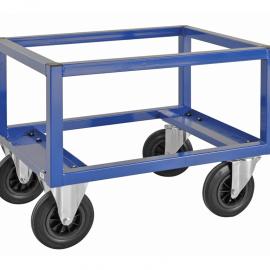Pallvagn halvpall 800x600x650 mm - bromsade hjul