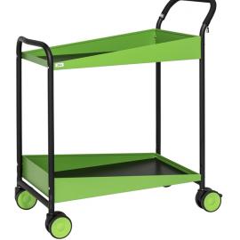Elegant grön serveringsvagn