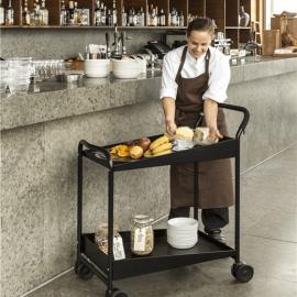 Elegant svart serveringsvagn