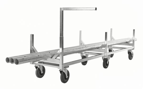 Långgodsvagn för rör- och stångmaterial