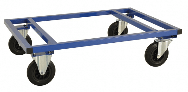 Låg pallvagn 1200x800x305 mm - Blå
