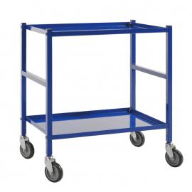 Rullbord 690x430x750 mm blå - med broms
