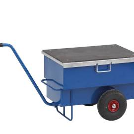 Låsbar verktygsvagn med draghandtag