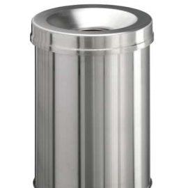 Självsläckande papperskorg i rostfritt - 15 liter