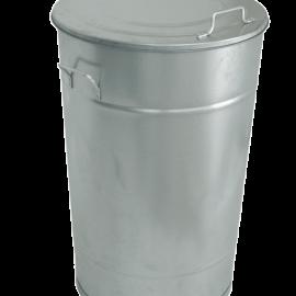 Attraktiva Avfallstunna Greger 160 liter | Soptunna med lock i galvaniserad plåt PC-98