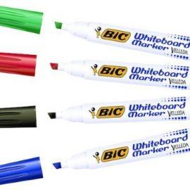 Whiteboardpenna 4-pack Bic snedskuren spets
