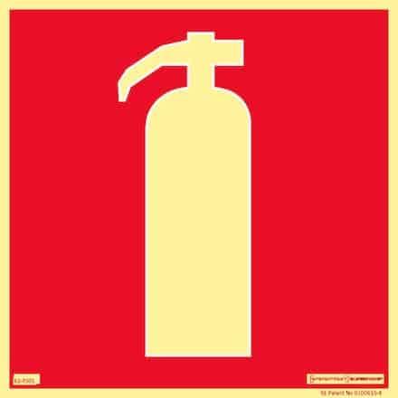 Brandskylt - brandsläckare | Efterlysande