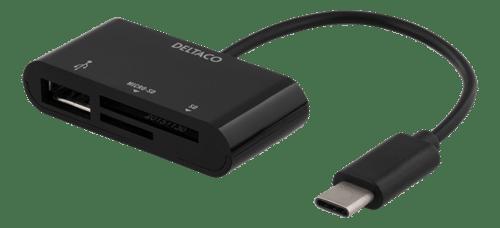 Minneskortläsare SD/ Micro med USB-A, USB-C