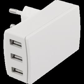 Mobilladdare - Väggladdare med 3 USB-uttag
