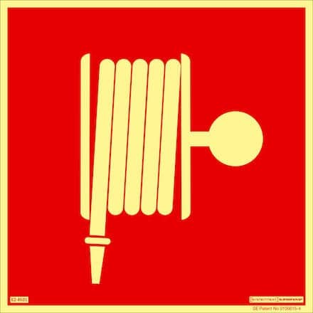 Brandskylt - brandpost | Efterlysande 210x210 mm