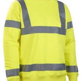 Långärmad sweatshirt | Varsel/ HiVis - Klass 3
