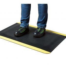 StandMat Safety | Arbetsmatta med gul säkerhetsmarkering