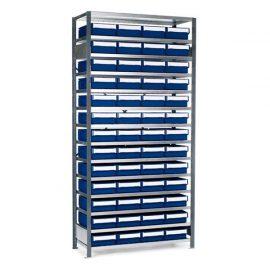 Backställ med 52 lagerlådor |2100x1040x400 mm