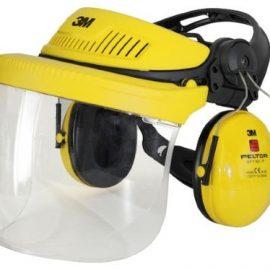 3M - Peltor Hjälmpaket med visir & hörselkåpor