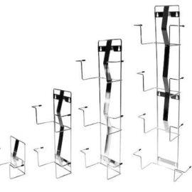 Rostfri vägghållare för engångshandskar