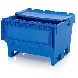 Pallbox i plast 800x600540 mm - gångjärnslock