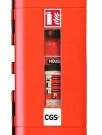 CGS Brandsläckarskåp | För 12 kg pulver | 9 l skum | 5 kg C02