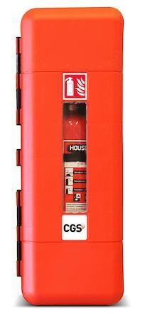 CGS Brandsläckarskåp   För 12 kg pulver   9 l skum   5 kg C02