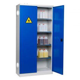 Kemikalieskåp med ventilationsstos | 1000x435x1990 mm