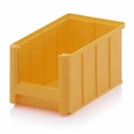 Gula lagerlådor i plast - 9 storlekar
