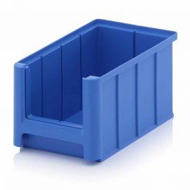 Blå lagerlådor i plast - 9 storlekar