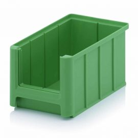 Gröna lagerlådor i plast - 9 storlekar