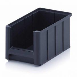 Grå lagerlådor i plast - 9 storlekar