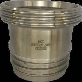Rostfri IBC adapter DIN 11851 | 60x6 till DN50